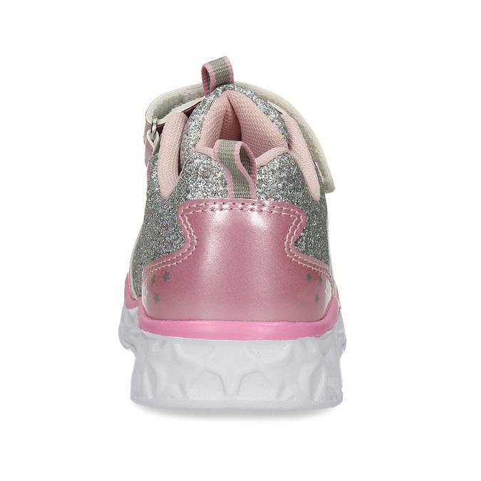 Růžovo-stříbrné dívčí svítící tenisky mini-b, růžová, 221-5601 - 15