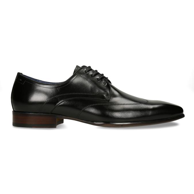 Černé pánské kožené polobotky v derby stylu bata, černá, 824-6708 - 19