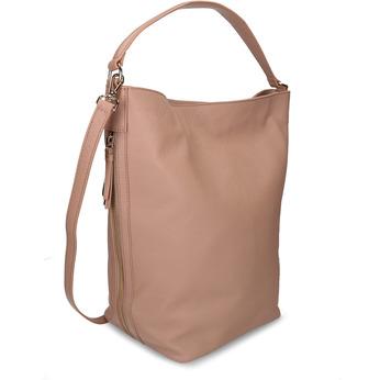 Béžová dámská kožená taška bata, béžová, 964-8614 - 13