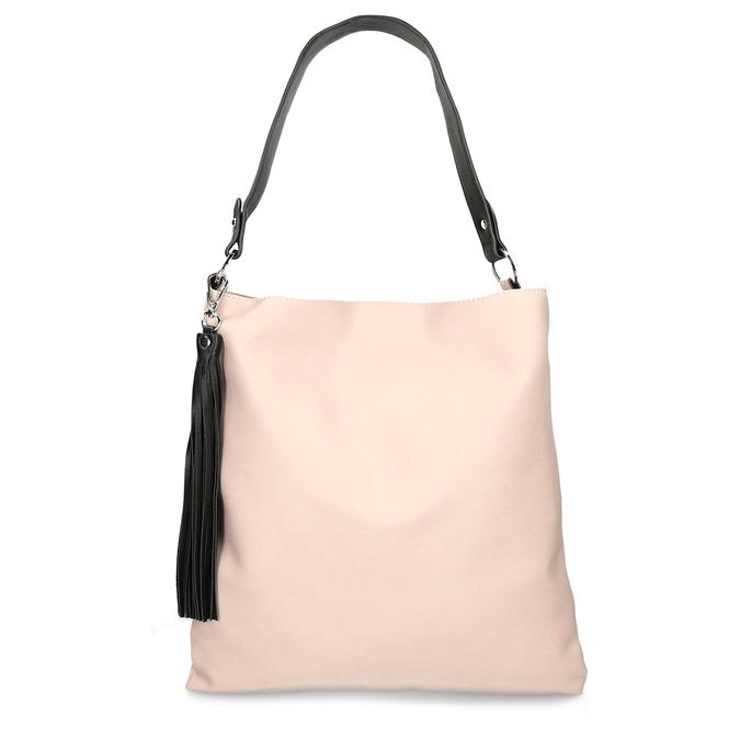 Růžovo černá dámská kabelka bata, růžová, 961-5671 - 26