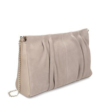 Béžová kožená dámská kabelka bata, béžová, 964-5642 - 13