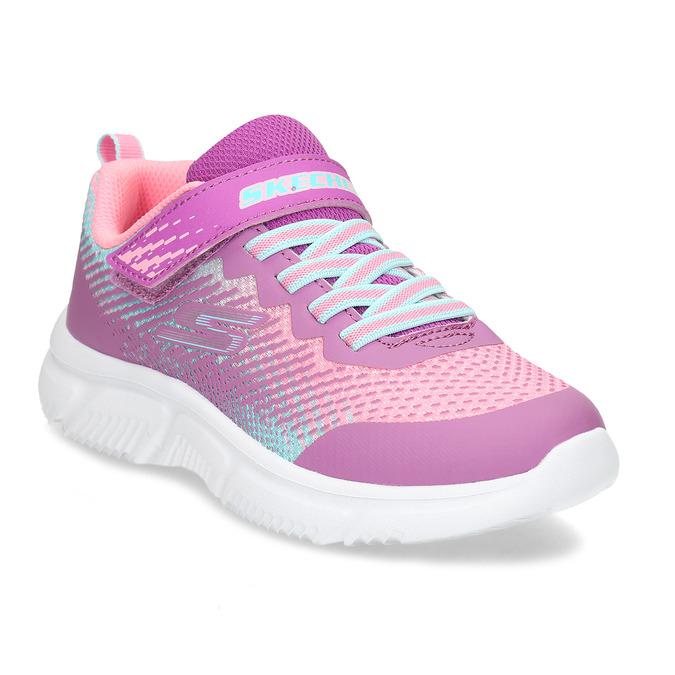 Dívčí růžovo-fialové tenisky na suchý zip skechers, růžová, 309-5614 - 13