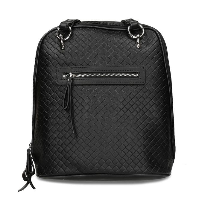 Černý dámský městský batoh bata, černá, 960-6653 - 26