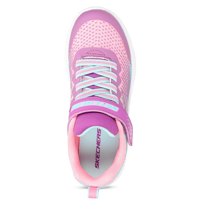 Dívčí růžovo-fialové tenisky na suchý zip skechers, růžová, 309-5614 - 17