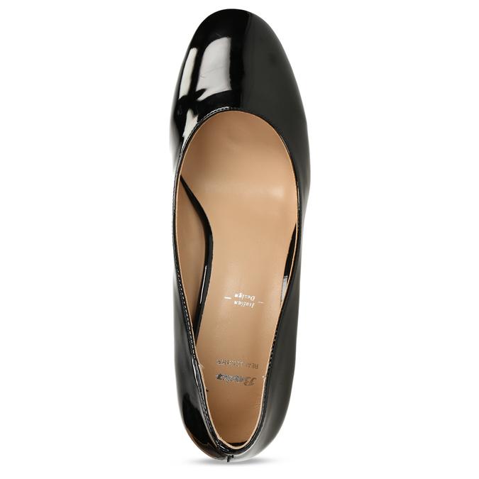 Černé lodičky se širokým podpatkem bata, černá, 621-6608 - 17