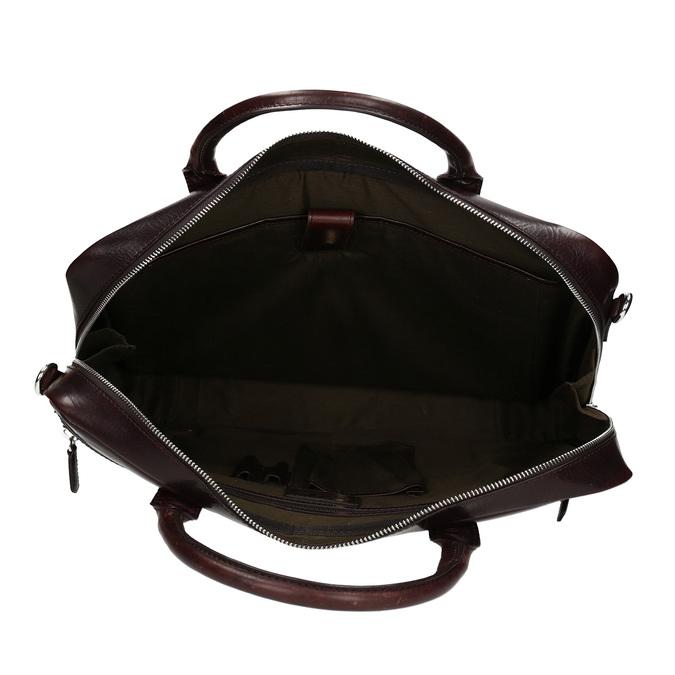 Kožená pánská taška na notebook bata, hnědá, 964-4650 - 15