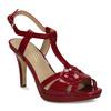 Červená dámská obuv s koženou stélkou na vysokém podpatku bata, červená, 751-5600 - 13