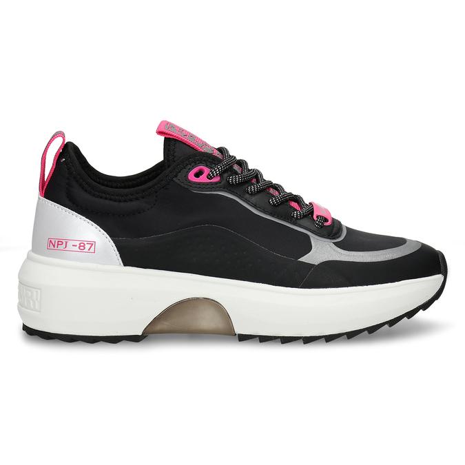 Černé dámské městské sneakersky napapijri, černá, 549-6621 - 19