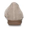 Béžové dámské kožené baleríny s lesklou špičkou gabor, béžová, 516-8600 - 15