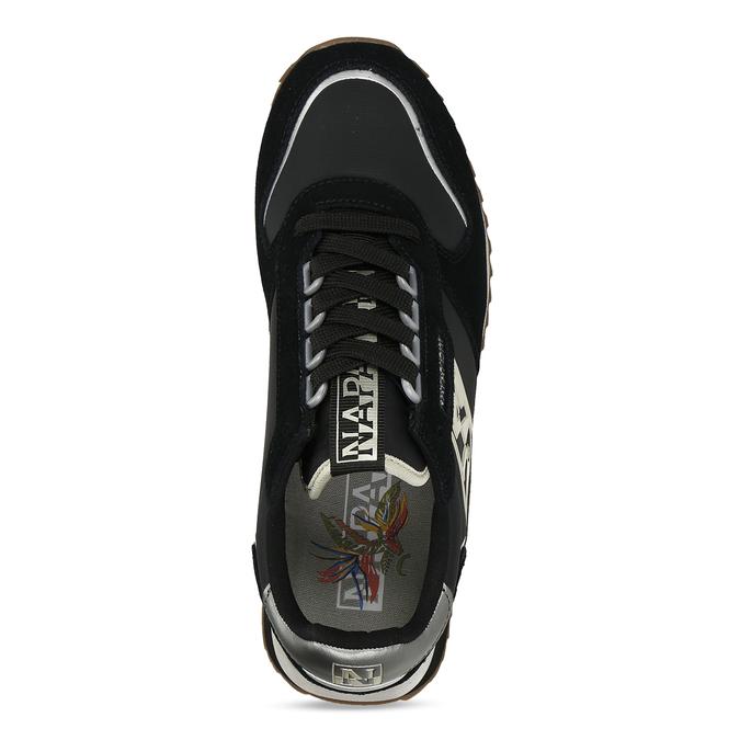 Černé dámské kožené sneakersky napapijri, černá, 543-6602 - 17