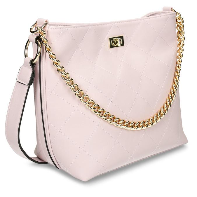 Růžová dámská kabelka se zlatým řetízkem bata, růžová, 961-5625 - 13