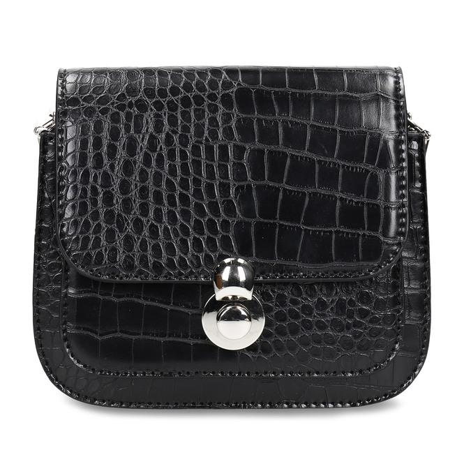 Černá dámská koženková kabelka bata, černá, 960-6679 - 26