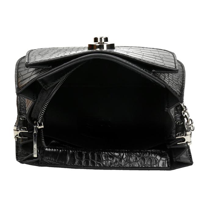 Černá dámská koženková kabelka bata, černá, 960-6679 - 15