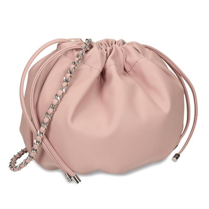 Růžová dámská balonová kabelka s řetízkovým uchem bata, růžová, 961-5776 - 13