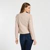 Světle růžová dámská koženková bunda na zip bata, růžová, 971-5281 - 26