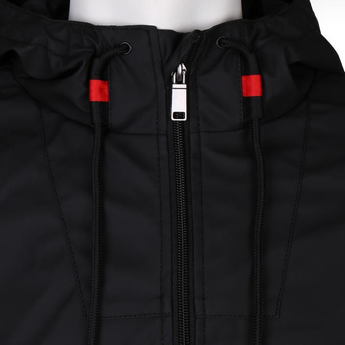 Černá pánská koženková bunda s kapucí bata, černá, 971-6291 - 16
