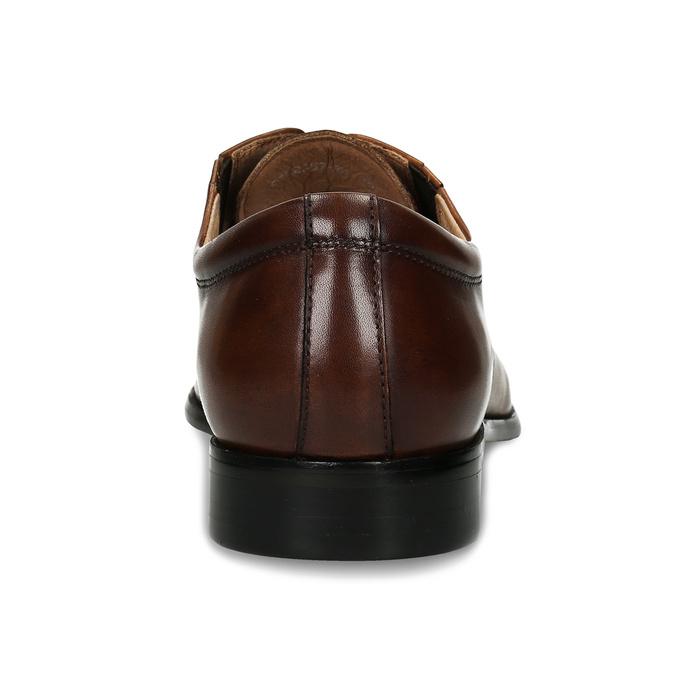 Hnědé pánské kožené polobotky pro širší chodidla bata, hnědá, 826-3728 - 15