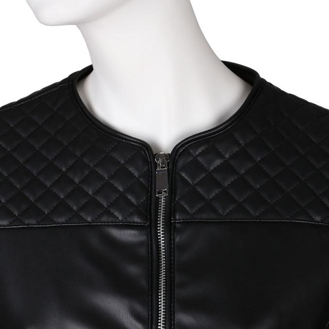 Černá dámská koženková bunda s prošíváním bata, černá, 971-6280 - 16