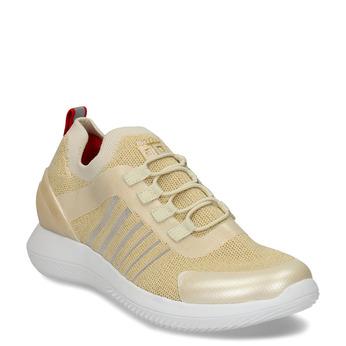 Béžovo-zlaté dámské sportovní tenisky bata-3d-energy, béžová, 549-8609 - 13