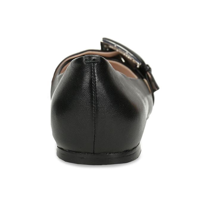 Kožené dámské baleríny černé bata, černá, 524-6641 - 15