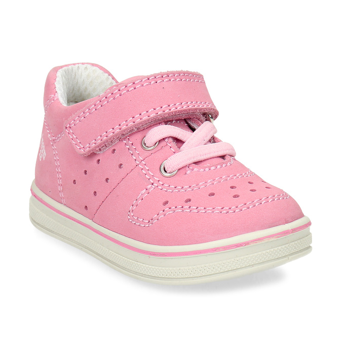 Růžové dětské kožené tenisky bubblegummers, růžová, 124-5604 - 13