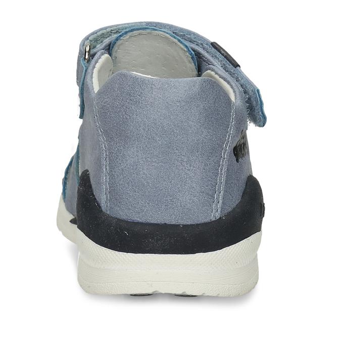 Modré chlapecké sandály na suchý zip bubblegummers, modrá, 161-9602 - 15