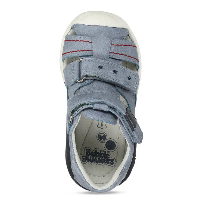 Modré chlapecké sandály na suchý zip bubblegummers, modrá, 161-9602 - 17