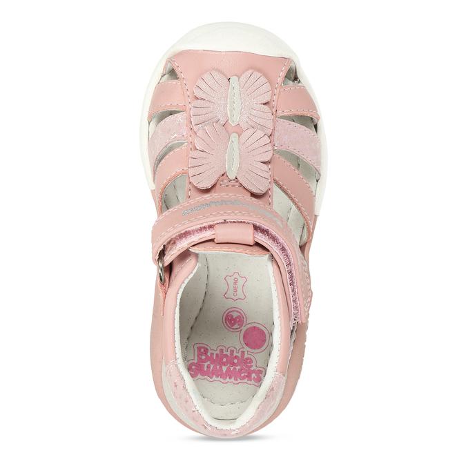 Růžové dívčí sandály s motýlky bubblegummers, růžová, 161-5602 - 17
