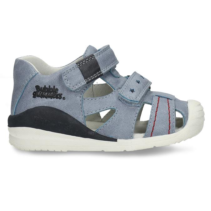 Modré chlapecké sandály na suchý zip bubblegummers, modrá, 161-9602 - 19