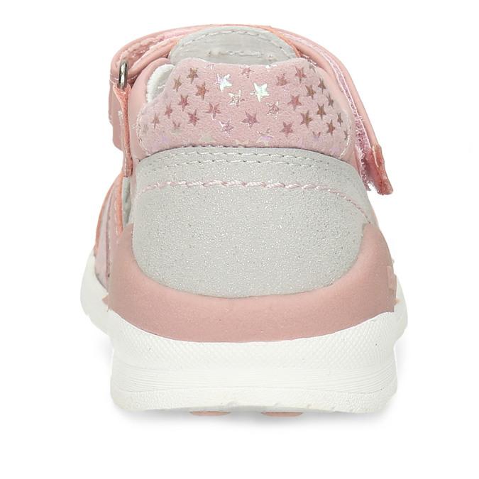 Růžové dívčí sandály s motýlky bubblegummers, růžová, 161-5602 - 15