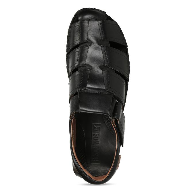 Černé pánské kožené sandály pikolinos, černá, 864-6612 - 17