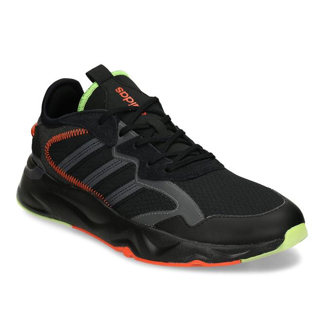 Černé pánské sportovní tenisky adidas, černá, 809-6164 - 13