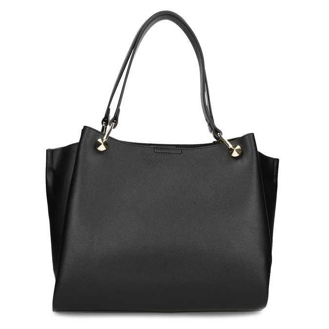 Černá dámská koženková kabelka střední velikosti bata, černá, 960-6624 - 16