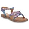 Neonové dívčí kožené sandály s listy mini-b, modrá, 365-9697 - 13