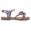 Neonové dívčí kožené sandály s listy mini-b, modrá, 365-9697 - 19