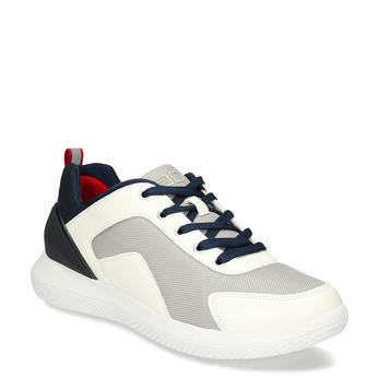 Bílé pánské tenisky s modrými prvky bata-3d-energy, bílá, 849-1604 - 13