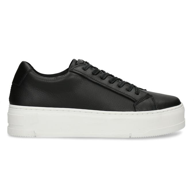 Černé kožené dámské tenisky vagabond, černá, 544-6624 - 19