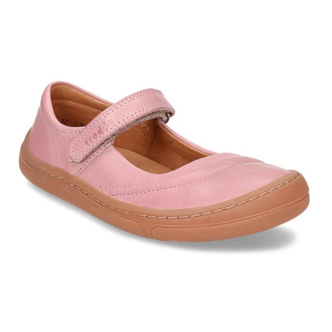 Růžové dětské kožené sandály s uzavřenou špičkou froddo, růžová, 224-5612 - 13