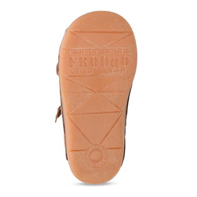 Hnědé dětské kožené sandály s uzavřenou špičkou froddo, hnědá, 164-4604 - 18