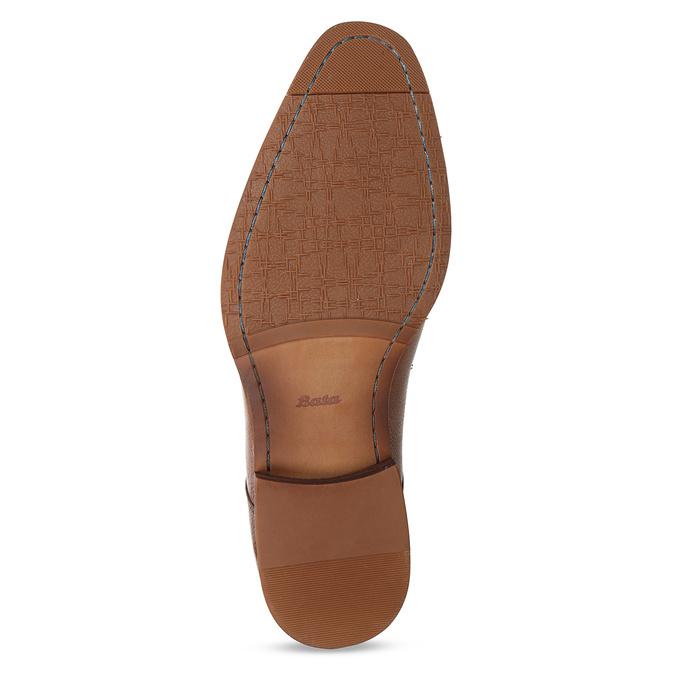 Hnědé kožené pánské polobotky bata, hnědá, 826-3696 - 18