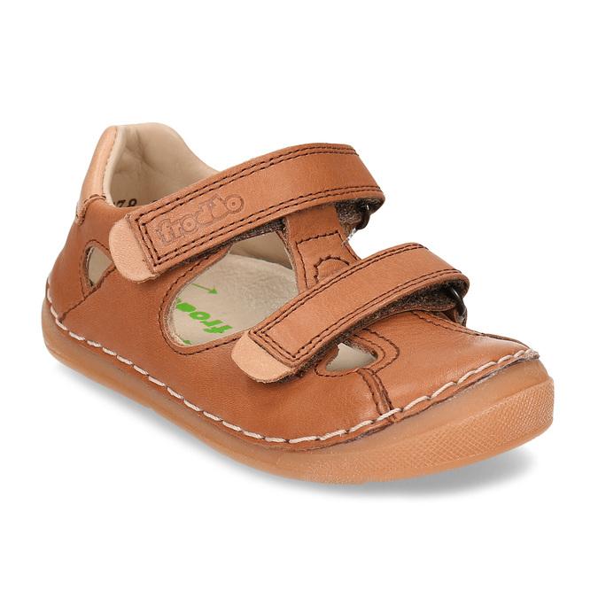 Hnědé dětské kožené sandály s uzavřenou špičkou froddo, hnědá, 164-4604 - 13