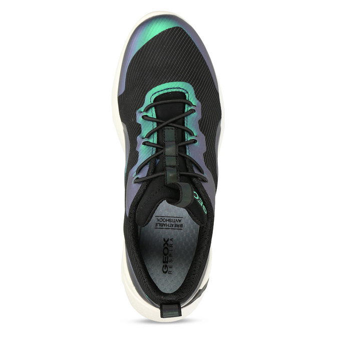 Černé chlapecké technologicky optimalizované tenisky geox, modrá, 419-9610 - 17
