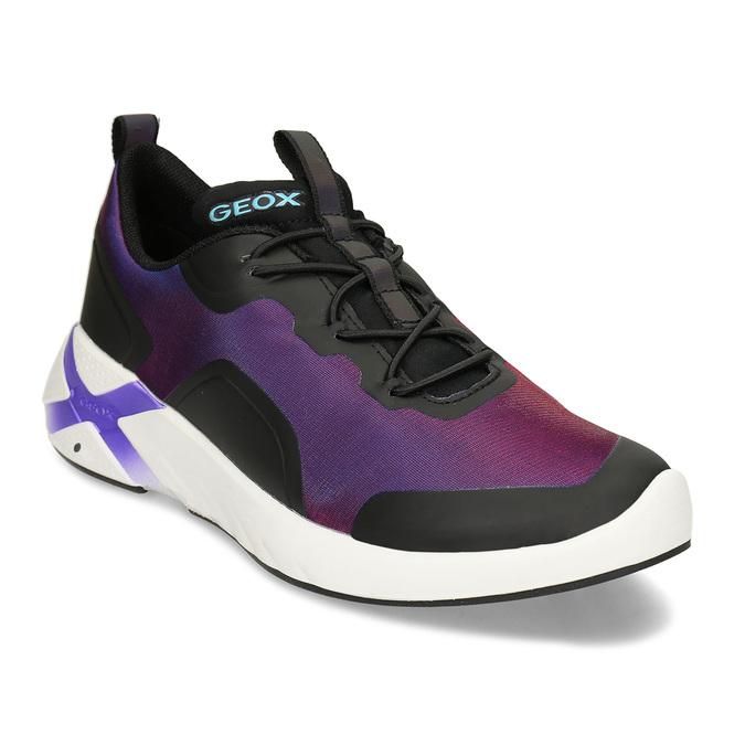 Fialové dívčí technologicky optimalizované sneakersky geox, fialová, 429-6608 - 13