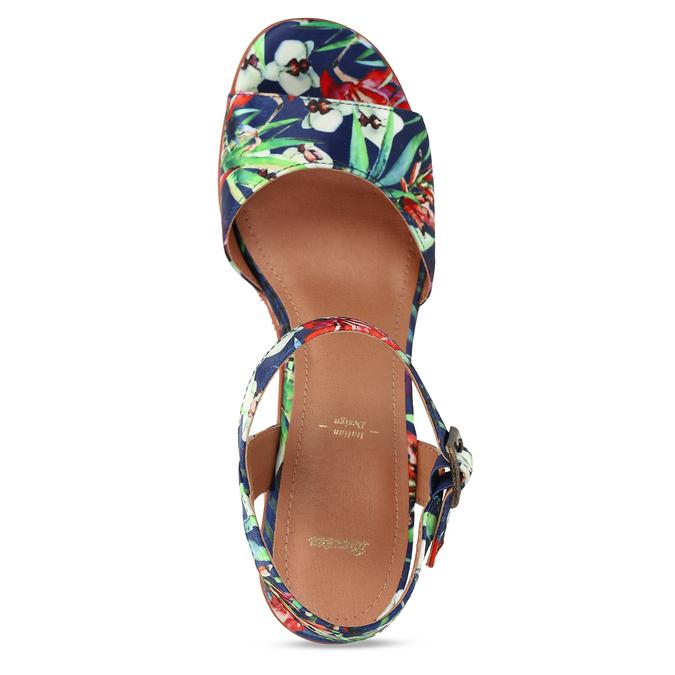 Barevné dámské sandály na platformě bata, modrá, 759-9606 - 17