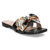 Černé dámské pantofle s barevnou mašlí bata, černá, 559-6600 - 13