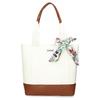 Bílá dámská kabelka střední velikosti s hnědými prvky bata, bílá, 961-0502 - 26