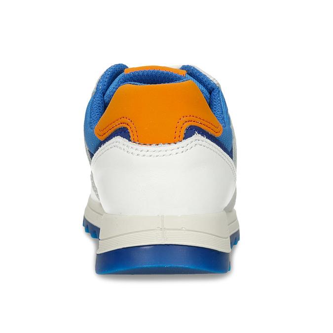 Bílošedé dětské tenisky modrými a oranžovými prvky primigi, bílá, 216-1600 - 15
