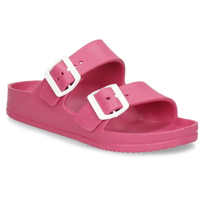 Růžové dámské pantofle bata, růžová, 572-5615 - 13