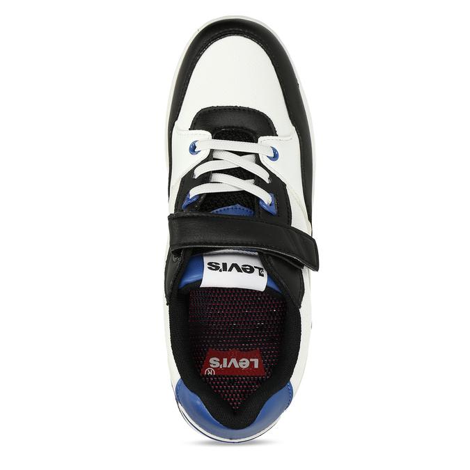 Bílé chlapecké tenisky s modrými a černými prvky levis, vícebarevné, 411-0600 - 17
