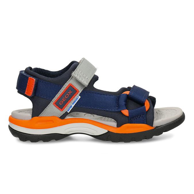 Modré dětské sportovní sandály s oranžovými prvky geox, modrá, 369-9611 - 19